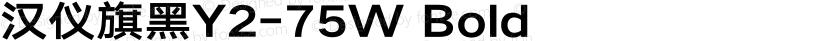 汉仪旗黑Y2-75W Bold Preview Image