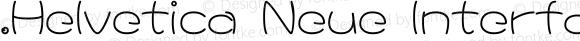 .Helvetica Neue Interface Regular