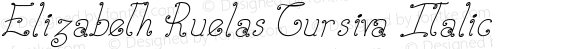 Elizabeth Ruelas Cursiva Italic preview image