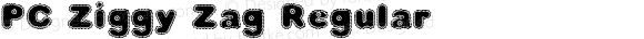 PC Ziggy Zag Regular Macromedia Fontographer 4.1 10/21/1998
