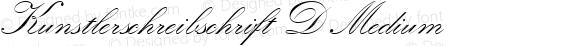 Kunstlerschreibschrift D Medium