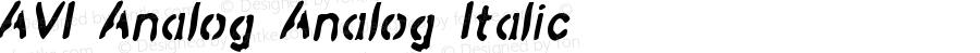AVI-Analog Analog-Italic Version 001.000