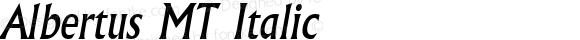 Albertus MT Italic