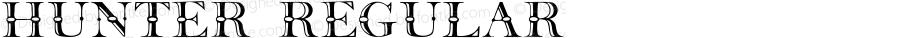 Hunter Regular Converted from C:\TTFONTS\Hunter__.TF1 by ALLTYPE