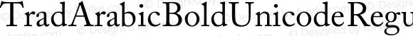 Trad Arabic Bold Unicode Regular Version 1.00