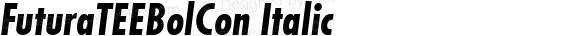 FuturaTEEBolCon Italic preview image