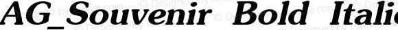 AG_Souvenir Bold Italic 001.000