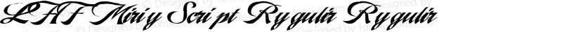 LHF Marie Script Regular Regular Preview Image