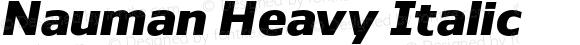 Nauman Heavy Italic