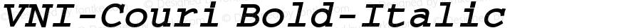 VNI-Couri-Bold-Italic