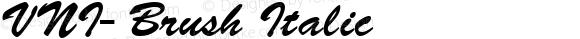 VNI-Brush-Italic