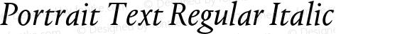 Portrait Text Regular Italic