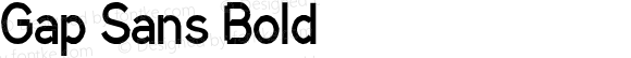 Gap Sans Bold