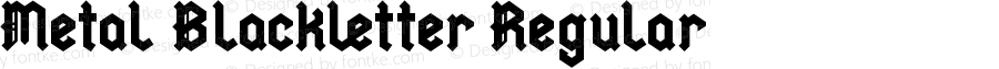 Metal Blackletter Regular Version 3.0