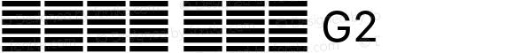 系统字体 常规体 G2 11.0d59e1