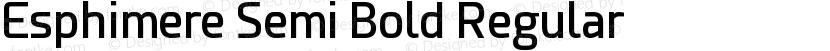 Esphimere Semi Bold Regular Preview Image