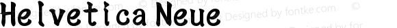 Helvetica Neue 中等斜体