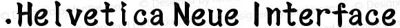 .Helvetica Neue Interface Medium Italic