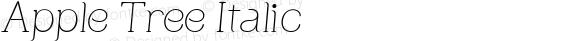 Apple Tree Italic Version 1.0