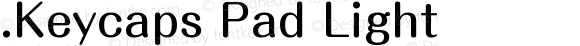 .Keycaps Pad Light