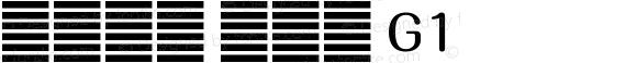 系统字体 常规体 G1 11.0d59e1