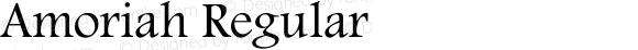 Amoriah Regular Glyph Systems 27-May-2001