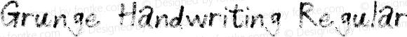 Grunge Handwriting Regular