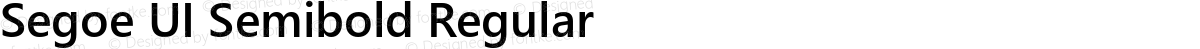 Segoe UI Semibold Regular