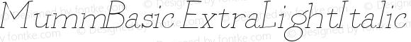 MummBasic ExtraLightItalic