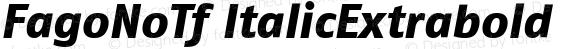 FagoNoTf ItalicExtrabold