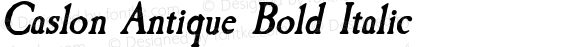 Caslon Antique Bold Italic preview image