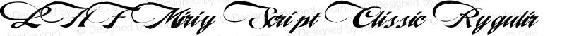 LHF Marie Script Classic Regular Preview Image