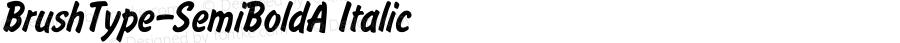 BrushType-SemiBoldA Italic Converted from C:\WORK\BRUSH.TF1 by ALLTYPE