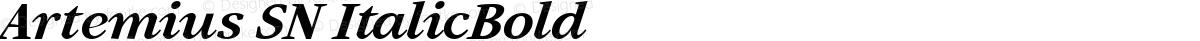 Artemius SN ItalicBold