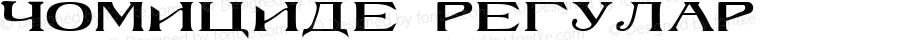 Homicide 1 Regular Altsys Fontographer 3.5  7/11/92