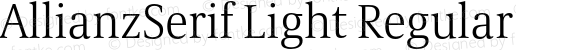 AllianzSerif Light Regular 001.001