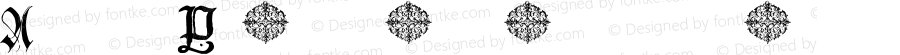 Anders Plain Capitals Regular Macromedia Fontographer 4.1.5 1/31/06