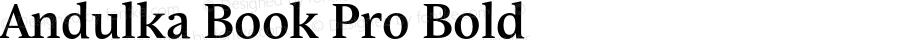 Andulka Book Pro Bold Version 1.000;PS 001.000;hotconv 1.0.38