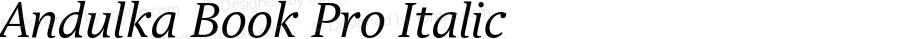 Andulka Book Pro Italic Version 1.000;PS 001.000;hotconv 1.0.38