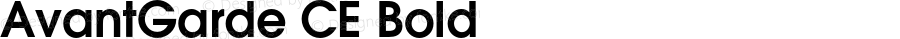 AvantGarde CE Bold OTF 1.0;PS 002.001;Core 1.0.22