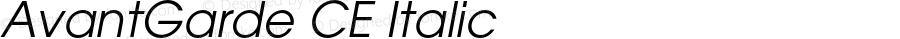 AvantGarde CE Italic OTF 1.0;PS 002.001;Core 1.0.22