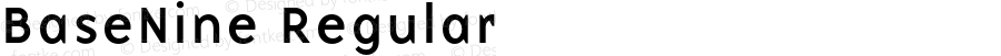 BaseNine Regular Altsys Fontographer 3.5  1/24/96