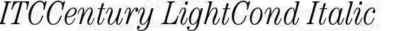 ITCCentury LightCond Italic OTF 1.0;PS 001.000;Core 1.0.22
