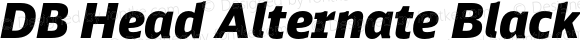DB Head Alternate Black Italic
