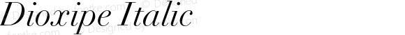 Dioxipe Italic