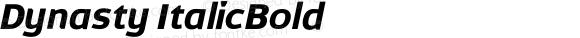 Dynasty ItalicBold