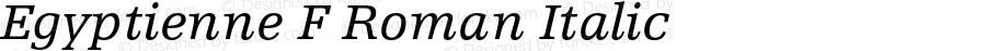 Egyptienne F Roman Italic OTF 1.0;PS 001.000;Core 1.0.22