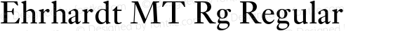 Ehrhardt MT Rg Regular OTF 1.0;PS 001.003;Core 1.0.22