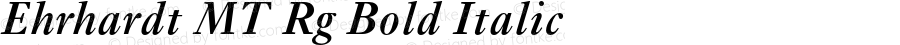 Ehrhardt MT Rg Bold Italic OTF 1.0;PS 001.003;Core 1.0.22