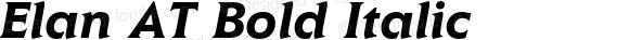 Elan AT Bold Italic Version 1.100;PS 001.001;Core 1.0.38
